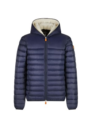 Men's Save The Duck Nathan Hooded Sherpa Lined Jacket